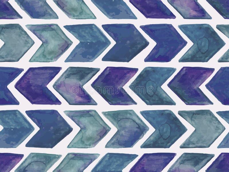 Modello geometrico dell'acquerello senza cuciture di vettore royalty illustrazione gratis