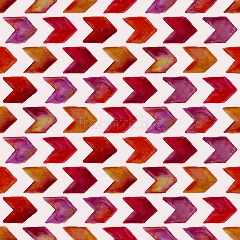 Modello geometrico dell'acquerello senza cuciture di vettore illustrazione vettoriale