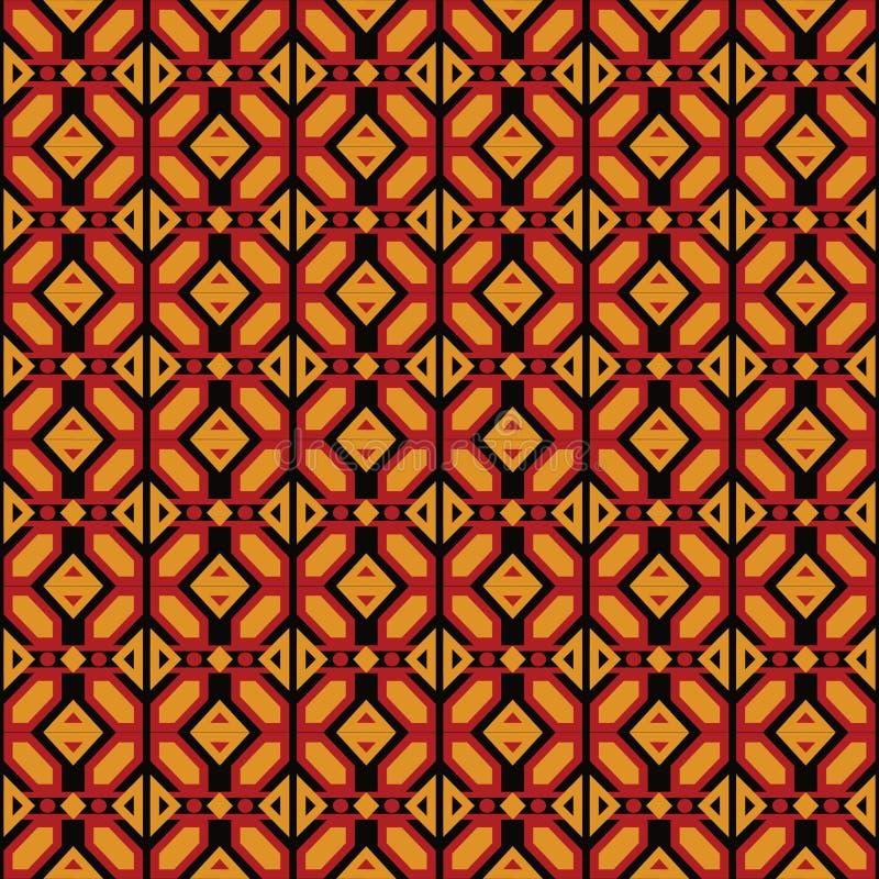 Modello geometrico di Ankara di afro illustrazione vettoriale