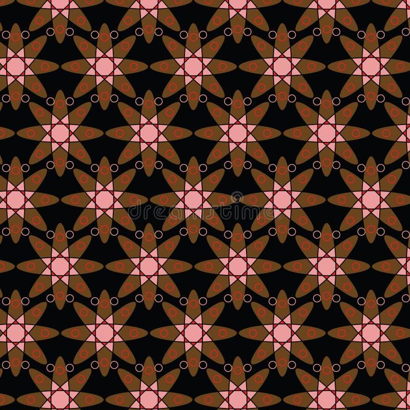 Modello geometrico di Ankara di afro illustrazione di stock