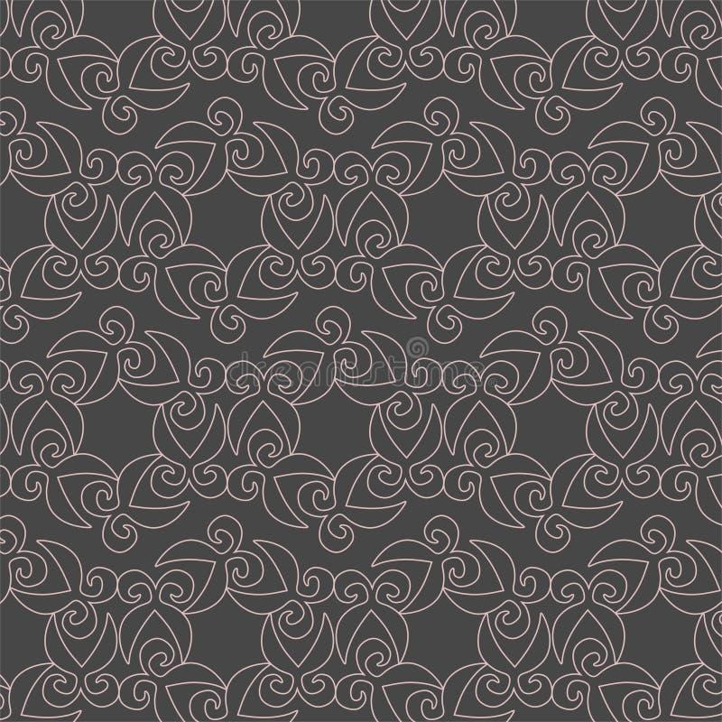 Modello geometrico di contorno di f su fondo grigio illustrazione di stock