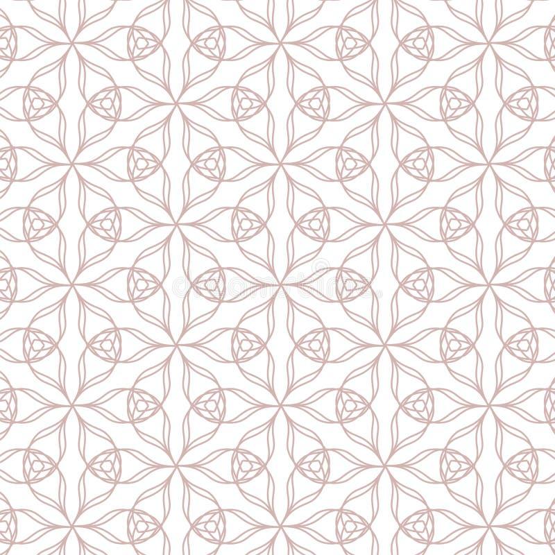 Modello geometrico di contorno su fondo bianco illustrazione di stock