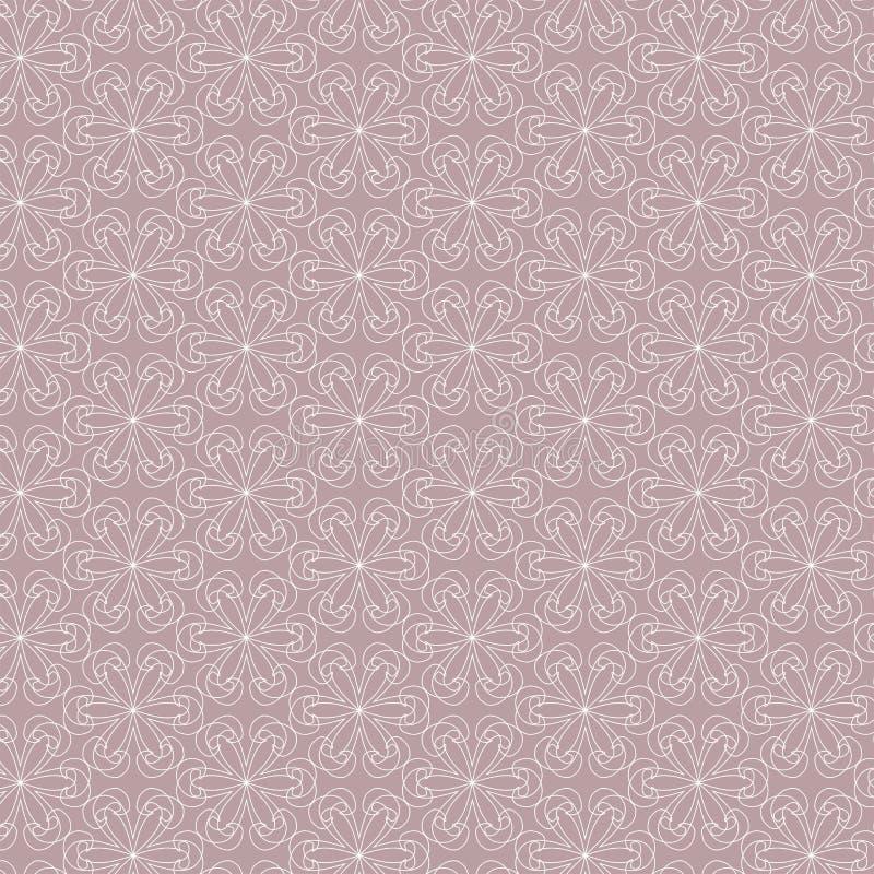Modello geometrico di contorno su fondo rosa illustrazione vettoriale