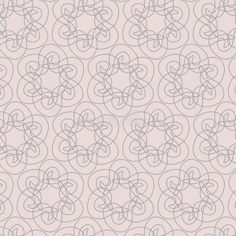 Modello geometrico di contorno su fondo rosa Estratto organico disegnato a mano illustrazione vettoriale