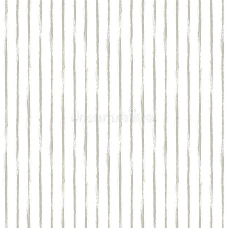 Modello geometrico di lerciume senza cuciture di vettore con le linee disegnate a mano Il fondo senza fine con l'orizzontale barr royalty illustrazione gratis