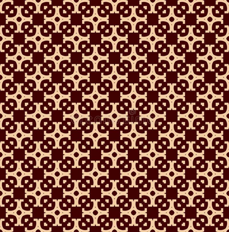 Modello geometrico di lusso Vector il reticolo senza giunte Struttura alla moda lineare moderna Ornamento a strisce geometrico illustrazione di stock