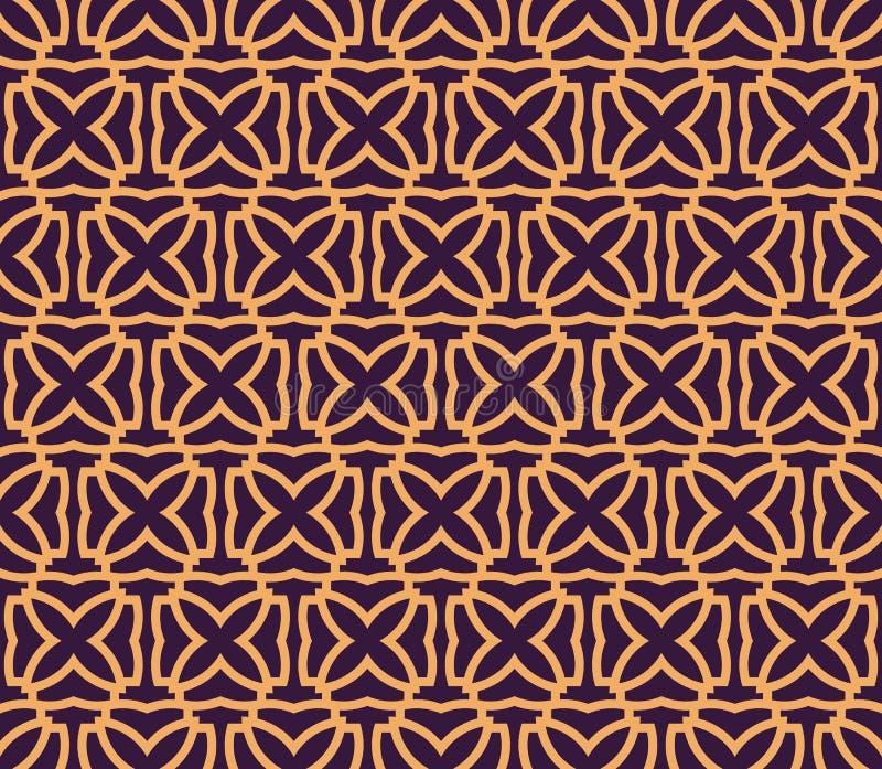 Modello geometrico di lusso Vector il reticolo senza giunte Struttura alla moda lineare moderna Ornamento a strisce geometrico illustrazione vettoriale