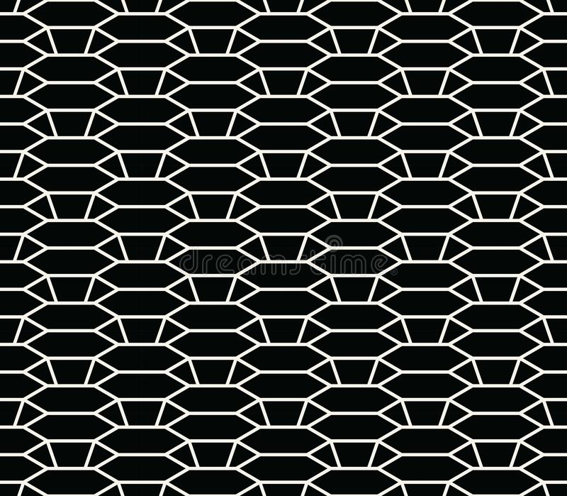 Modello geometrico di struttura di griglia di esagono del profilo di sollievo 3d immagine stock