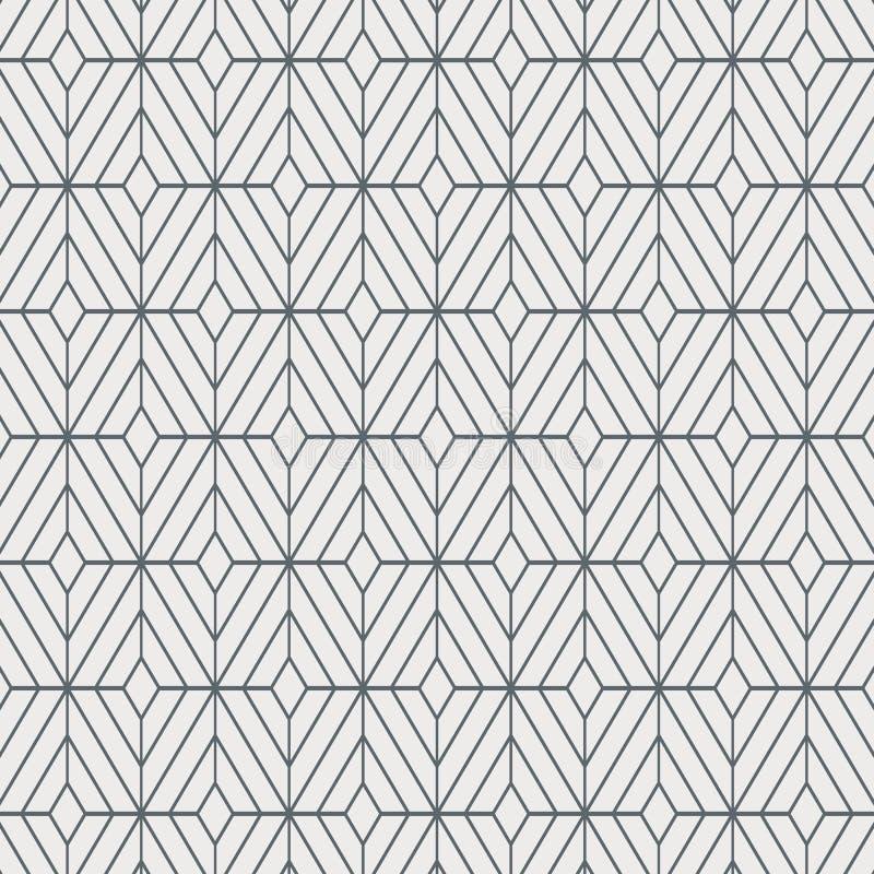 Modello geometrico di vettore della decorazione, ripetente forma quadrata del diamante, alla moda monocromatico royalty illustrazione gratis