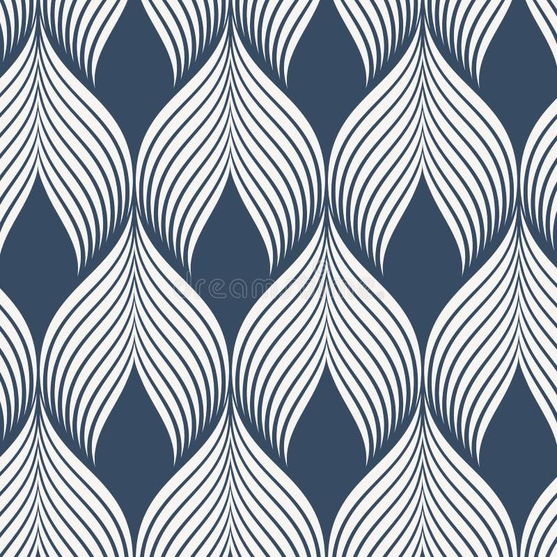 Modello geometrico di vettore stampa semplice del tessuto di modo Vettore che ripete struttura delle mattonelle Piastrellatura de royalty illustrazione gratis