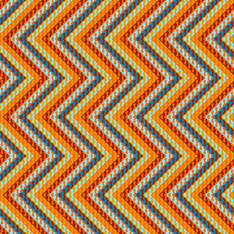 Modello geometrico di zigzag royalty illustrazione gratis