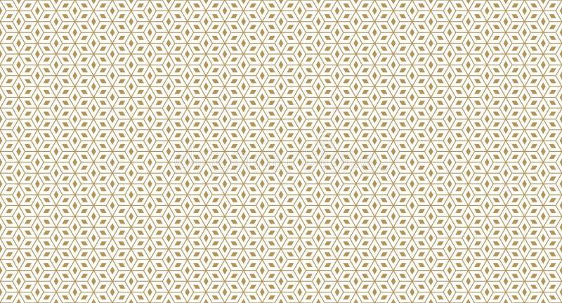 Modello geometrico dorato, parte 011 royalty illustrazione gratis