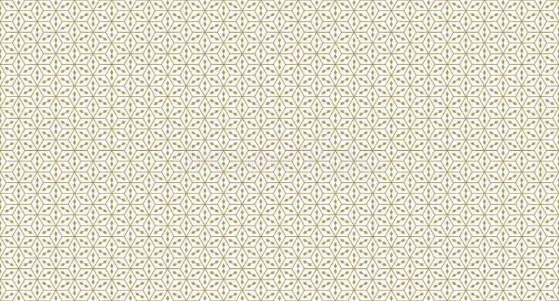 Modello geometrico dorato, parte 012 illustrazione vettoriale