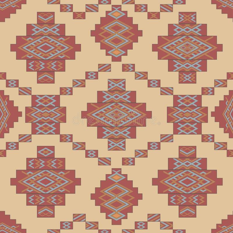 Modello geometrico etnico dell'estratto, tappeto tribale, illustrazione senza cuciture di vettore royalty illustrazione gratis