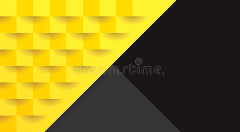 Modello Geometrico Giallo E Nero, Modello Astratto Del Fondo