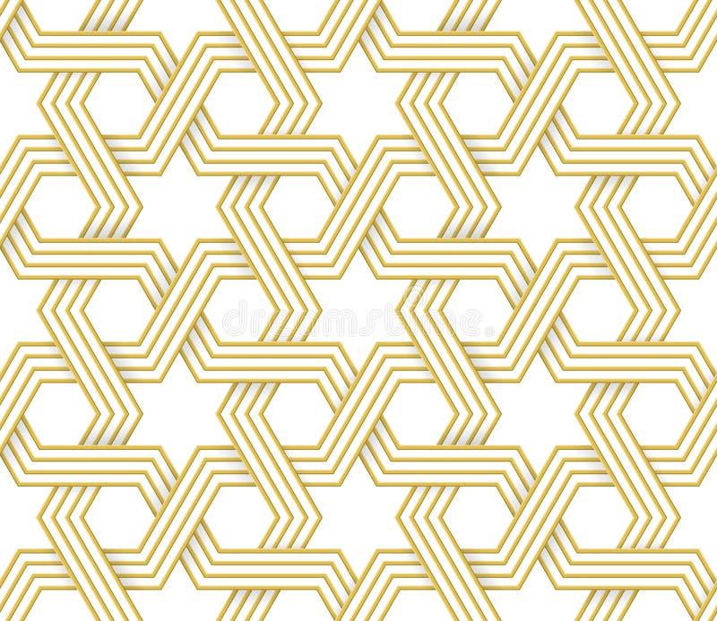 Modello geometrico islamico di vettore di arabesque royalty illustrazione gratis
