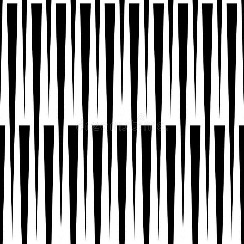 Modello geometrico monocromatico con le linee Senza cuciture ripetibile illustrazione di stock