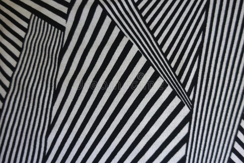 Modello geometrico monocromatico su tessuto fotografie stock