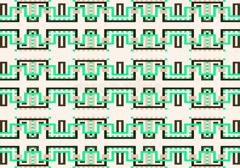 Modello geometrico multicolore astratto Vector il reticolo senza giunte illustrazione di stock