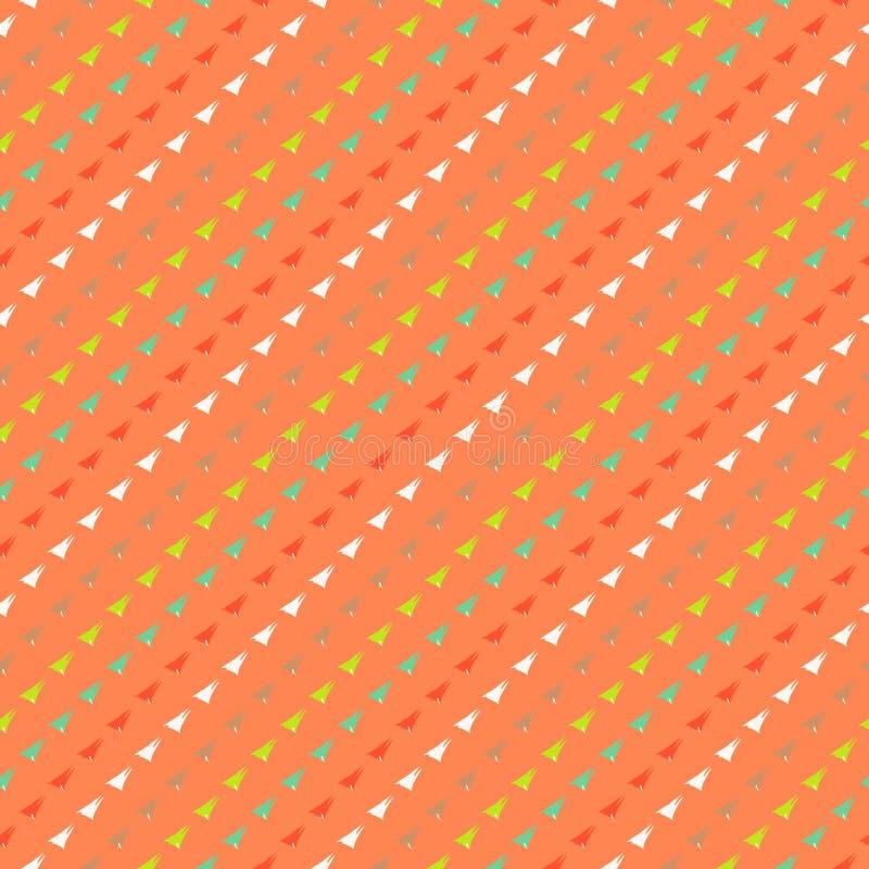 Modello geometrico multicolore dei pantaloni a vita bassa illustrazione di stock