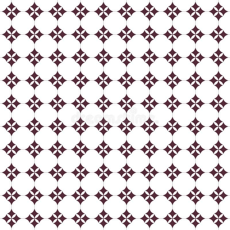 Modello geometrico nella ripetizione Stampa del tessuto Fondo senza cuciture, ornamento del mosaico, stile etnico illustrazione di stock