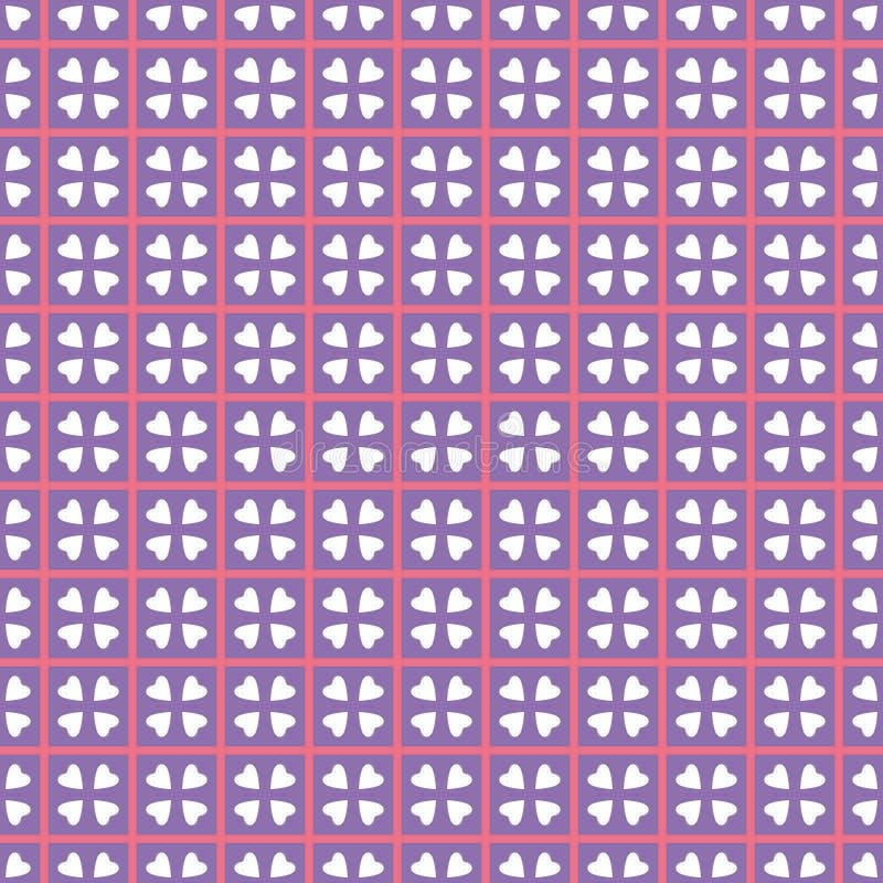 Modello geometrico nella ripetizione Stampa del tessuto Fondo senza cuciture, ornamento del mosaico, stile etnico illustrazione vettoriale