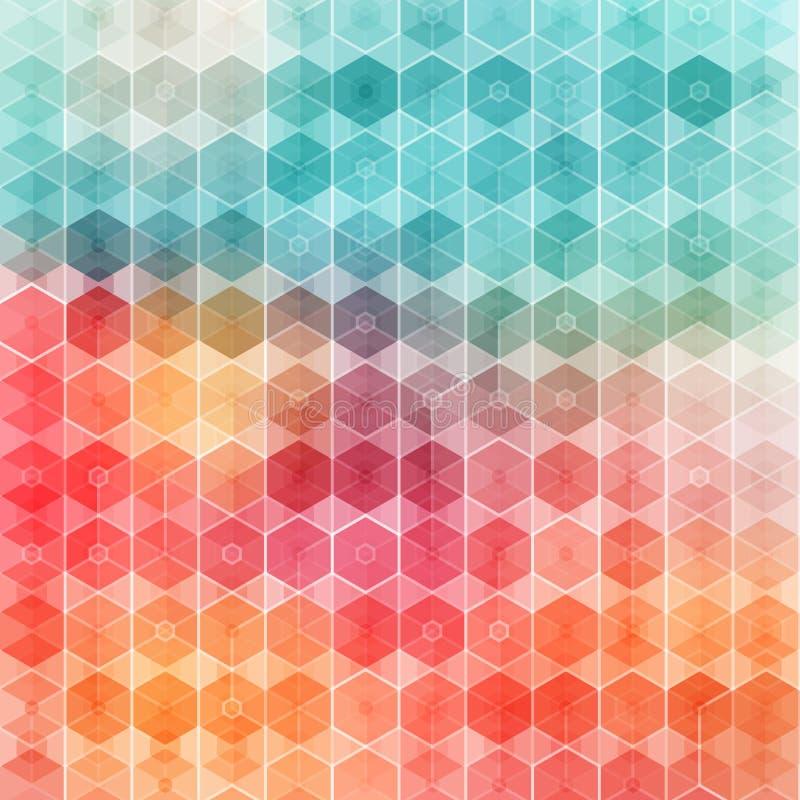 Modello geometrico piacevole e colorato. illustrazione di stock