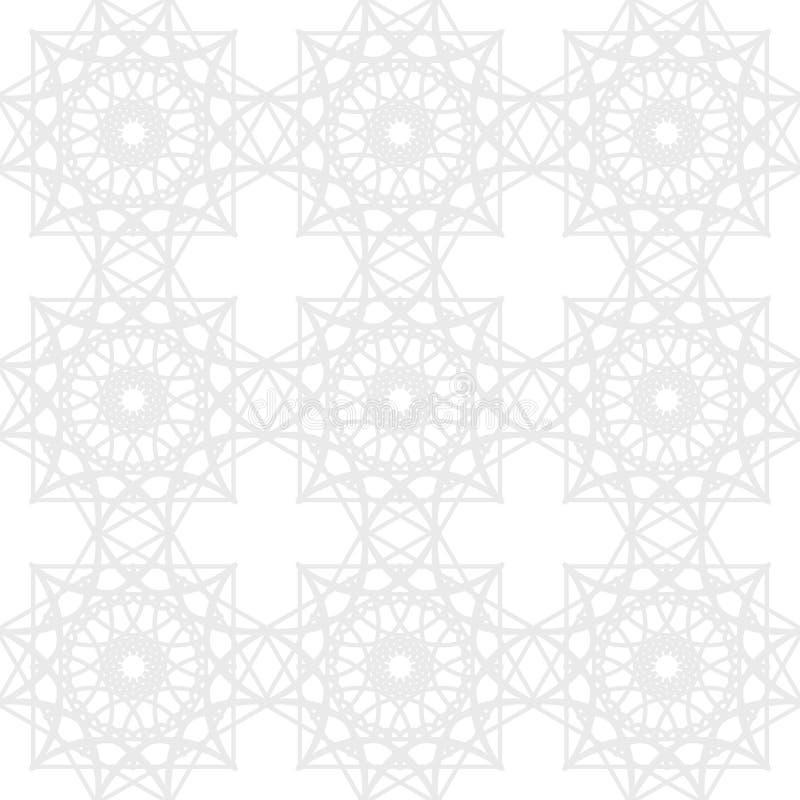 Modello geometrico senza cuciture in argento e nei colori bianchi Fondo astratto complesso illustrazione di stock