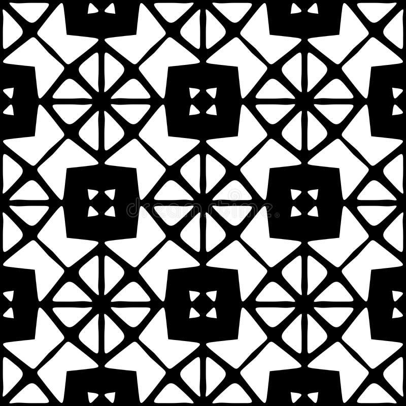 Modello geometrico senza cuciture in bianco e nero illustrazione di stock