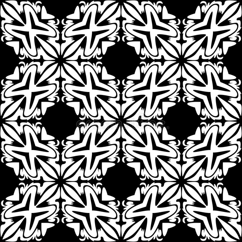 Modello geometrico senza cuciture in bianco e nero illustrazione vettoriale