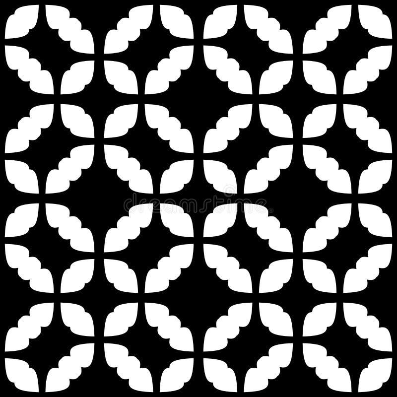 Modello geometrico senza cuciture in bianco e nero royalty illustrazione gratis