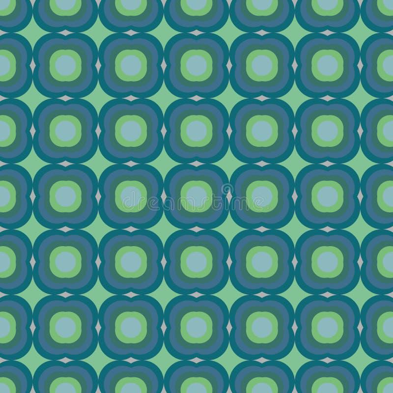 Modello geometrico senza cuciture decorativo di vettore con le grandi forme dell'alzavola illustrazione di stock