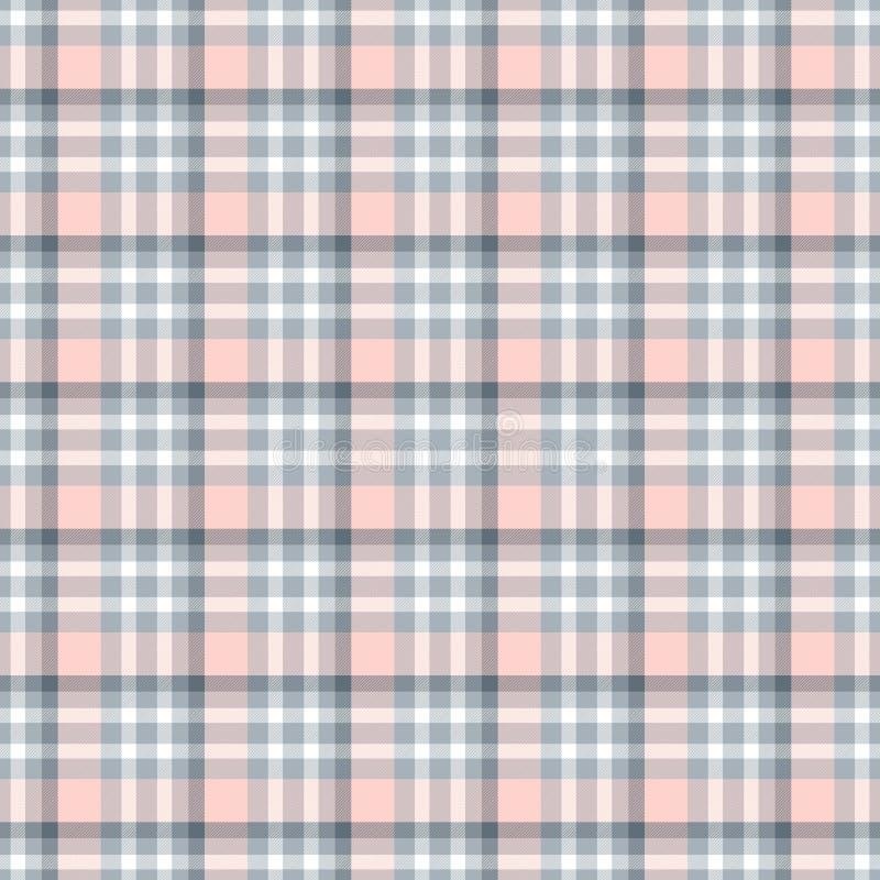 Modello geometrico senza cuciture del percalle sottragga la priorit? bassa Bande blu, di rosa, grige e bianche royalty illustrazione gratis