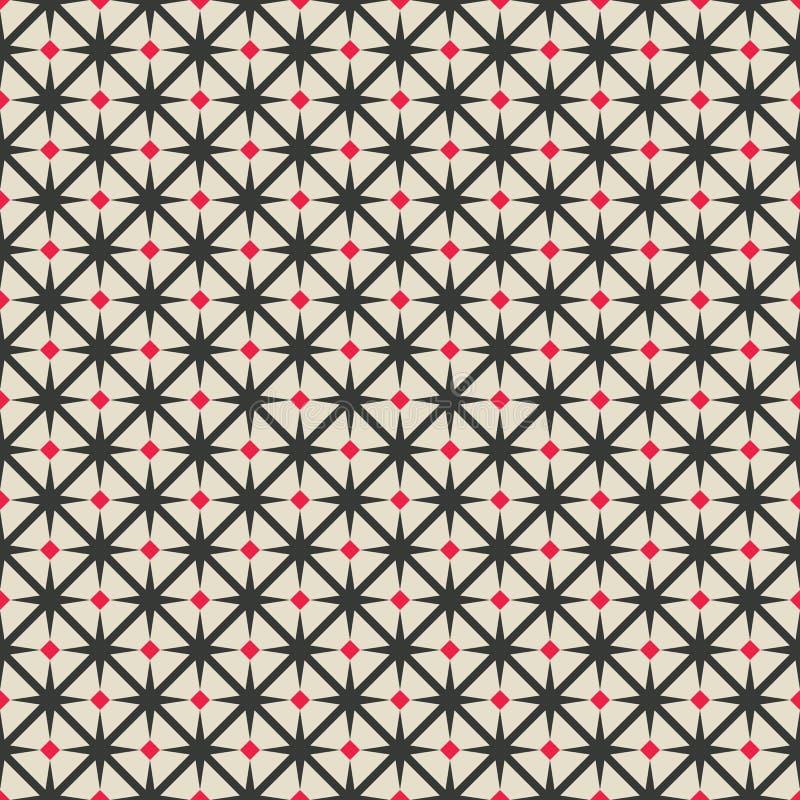 Modello geometrico senza cuciture del rombo nero e rosso royalty illustrazione gratis