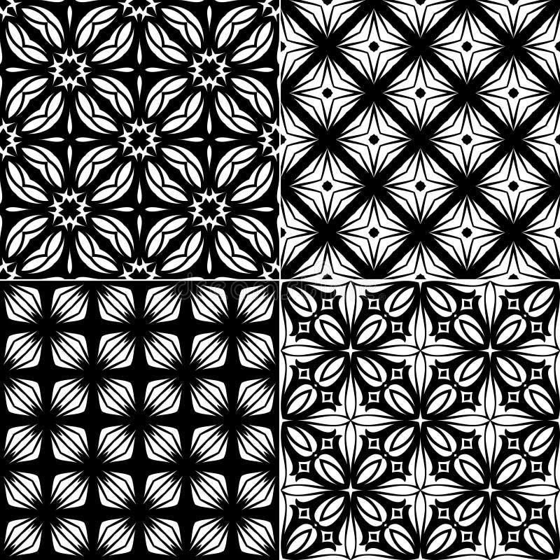 Modello geometrico senza cuciture stabilito royalty illustrazione gratis