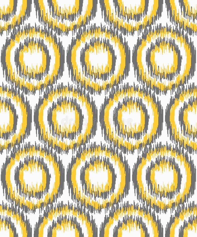 Modello geometrico senza cuciture, stile del tessuto del ikat royalty illustrazione gratis