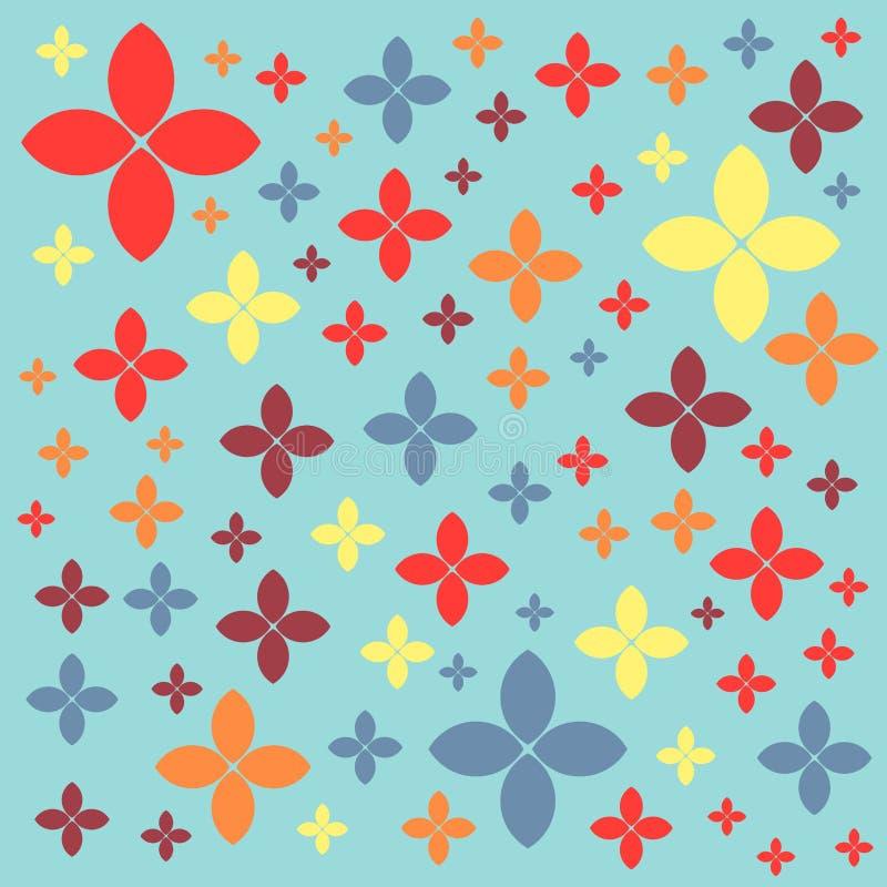 Modello geometrico senza cuciture su un fondo verde di colore pastello illustrazione di stock