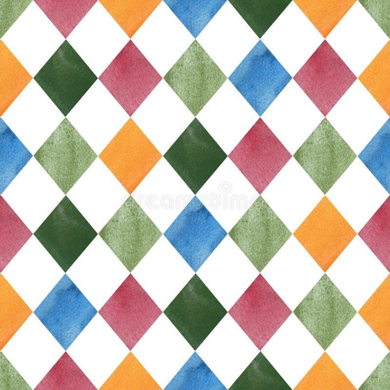 Modello geometrico senza cuciture variopinto delle mattonelle royalty illustrazione gratis