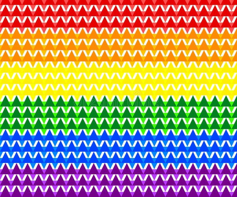 Modello geometrico variopinto astratto, arcobaleno LGBTQ/colori della bandiera orgoglio di LGBT, illustrazione di vettore, ENV 10 illustrazione vettoriale