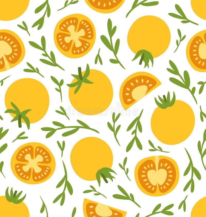 Modello giallo dei pomodori illustrazione vettoriale