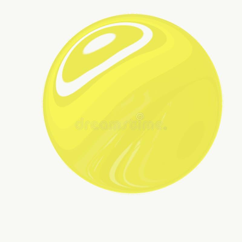 Modello giallo del limone dell'illustrazione di Digital su fondo verde illustrazione vettoriale