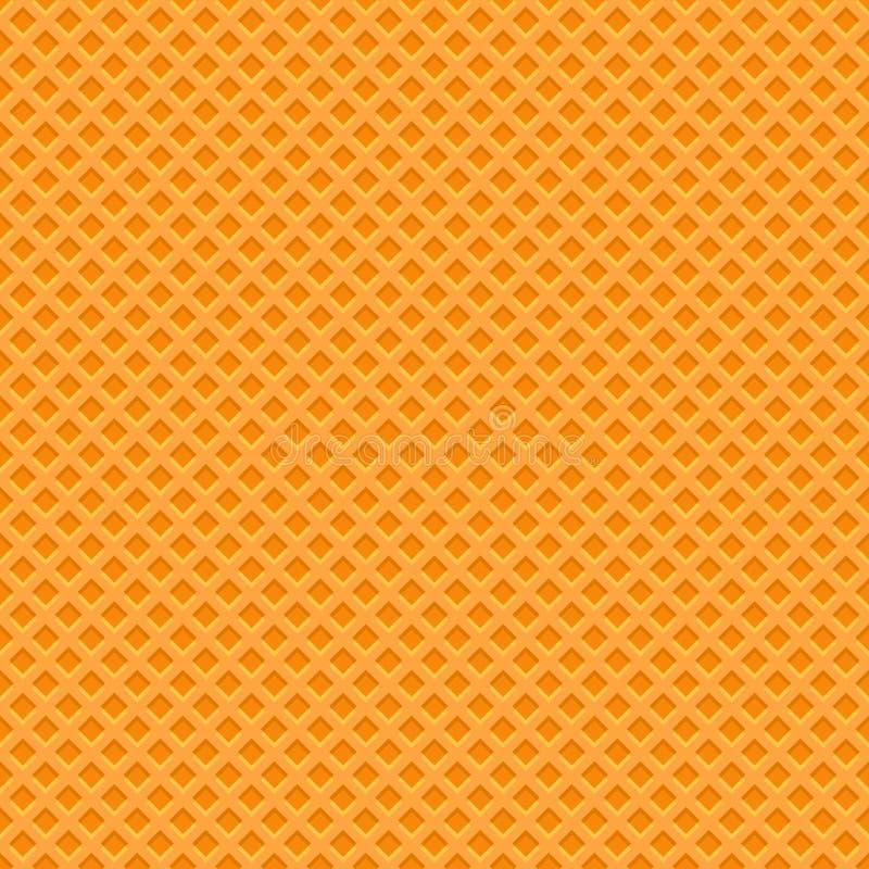 Modello giallo di struttura della cialda Fondo senza cuciture Vettore illustrazione vettoriale