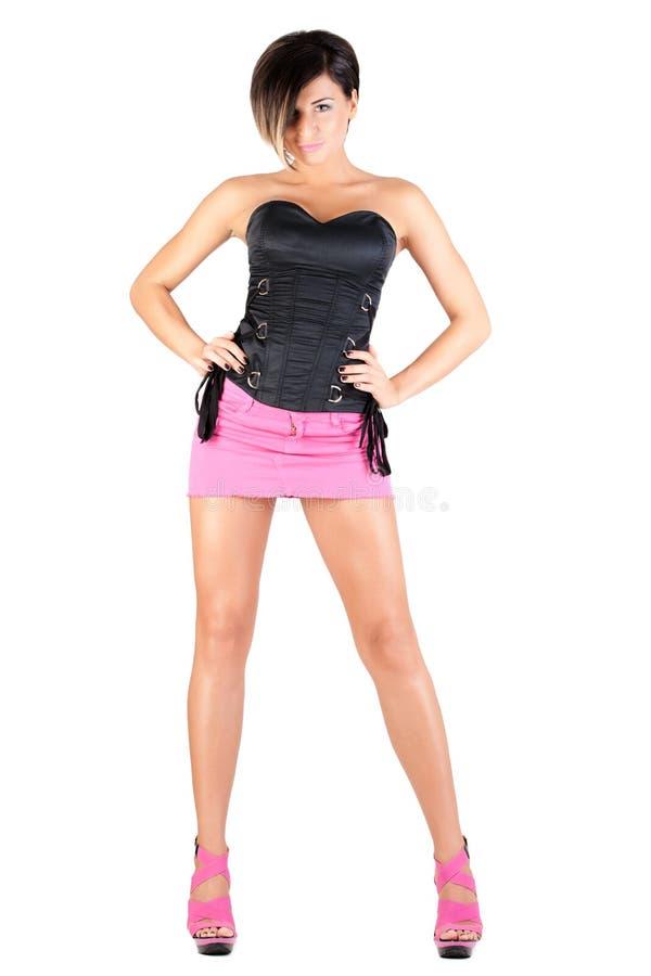 Modello giovane in attrezzatura sexy immagine stock