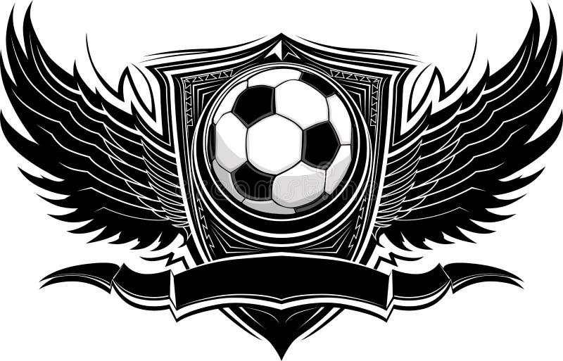 Modello grafico decorato della sfera di calcio royalty illustrazione gratis