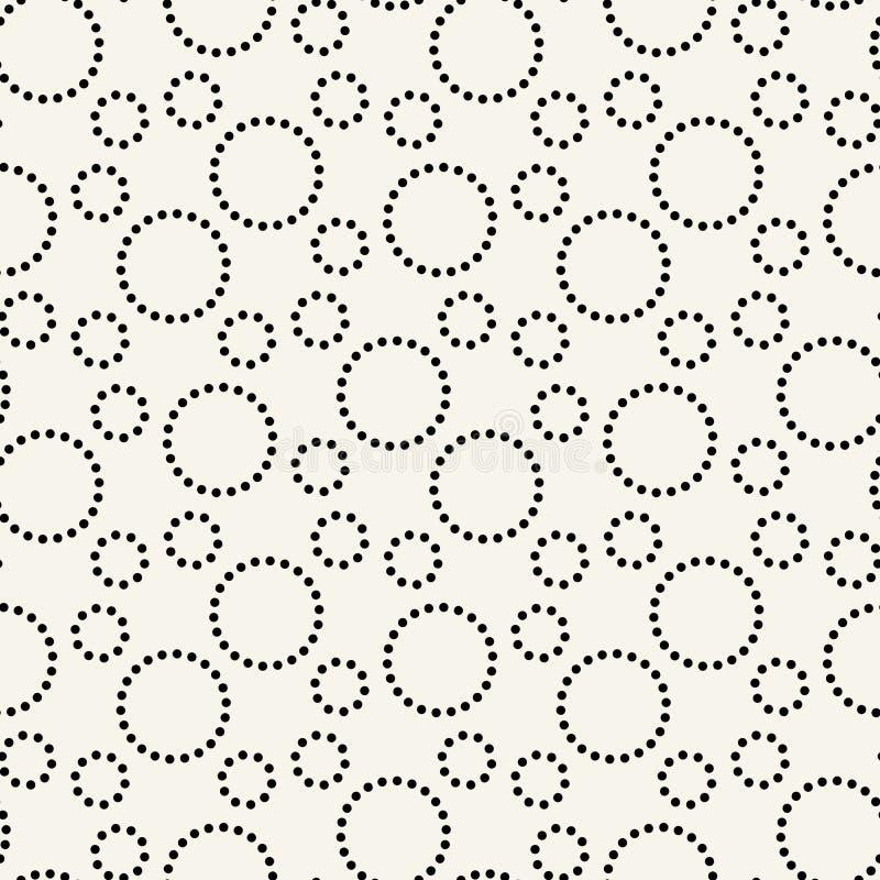 modello grafico della stampa dei cerchi tratteggiati geometrici fotografia stock libera da diritti