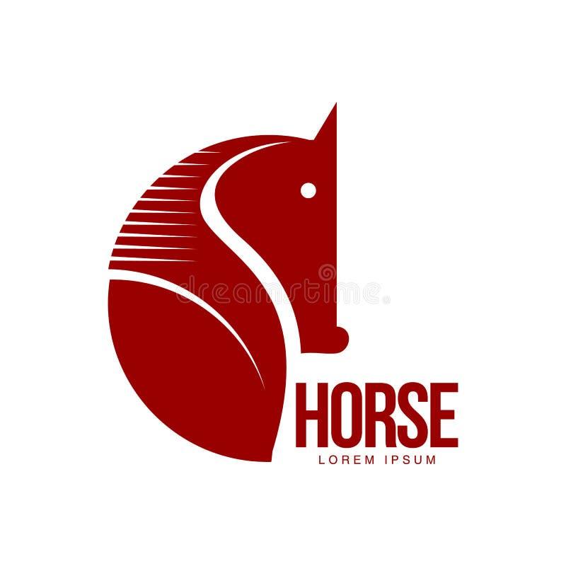 Modello grafico di logo di profilo della testa di cavallo illustrazione vettoriale