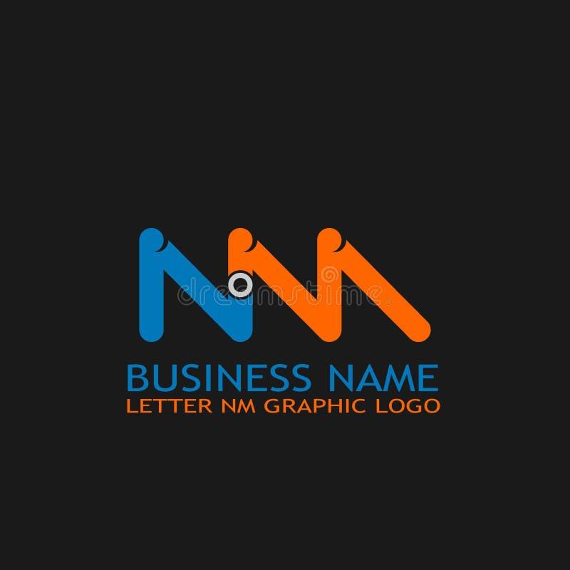 Modello grafico di logo di nanometro della lettera royalty illustrazione gratis