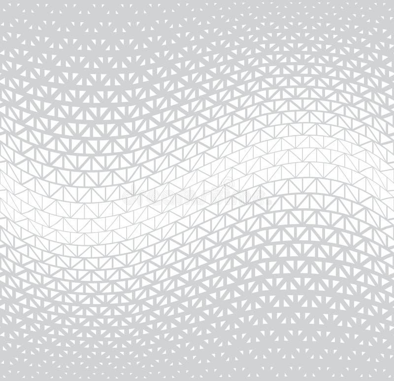 Modello grafico minimo di vettore del triangolo di semitono geometrico fotografia stock