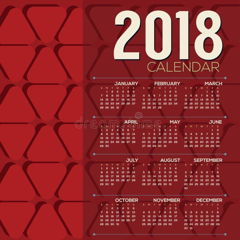 Modello grafico rosso di domenica di 2018 inizio - Modelli di ghirlanda stampabili ...