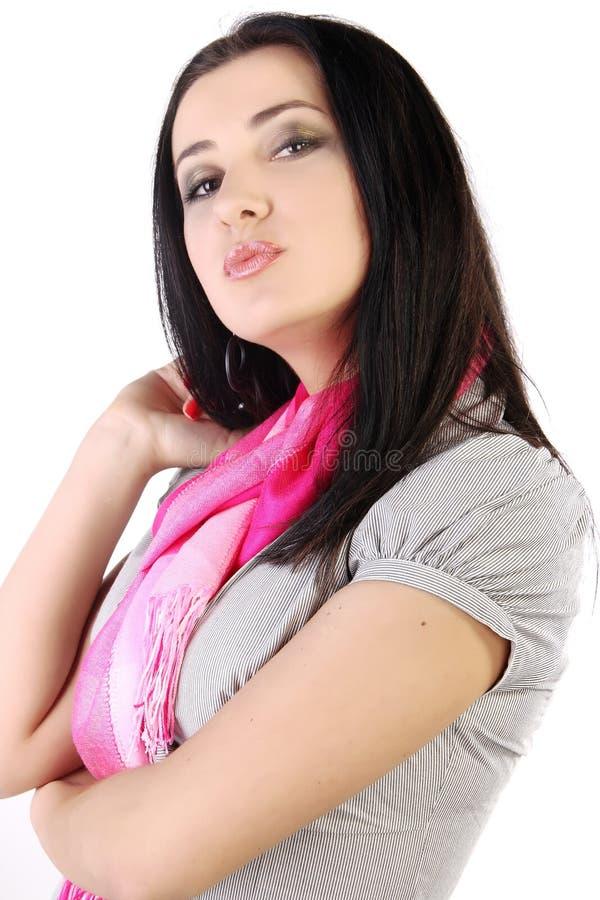 Modello grazioso del brunette immagine stock